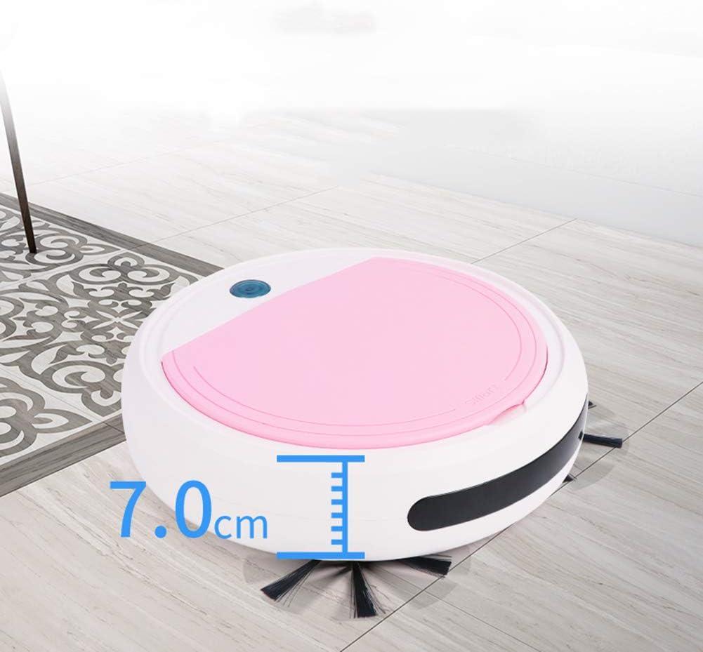 LAHappy Robot aspirateur Navigation Intelligente 55dB Silencieux Système de Nettoyage Puissant pour Les Poils d\'animaux,White Green White Purple