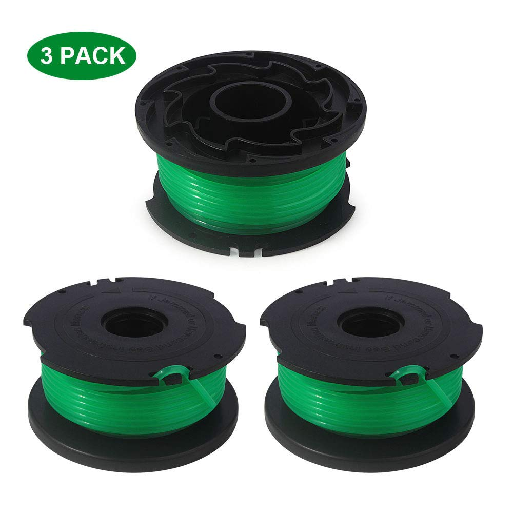 Thten String Trimmer Spool Replacement for Black and Decker SF-080 GH3000 LST540 Weed Eater 20ft 0.080'' GH3000R LST540B Edger Refills Line Auto feed Single Line Parts Trimmers Line Cord(3 Packs) by Faracent