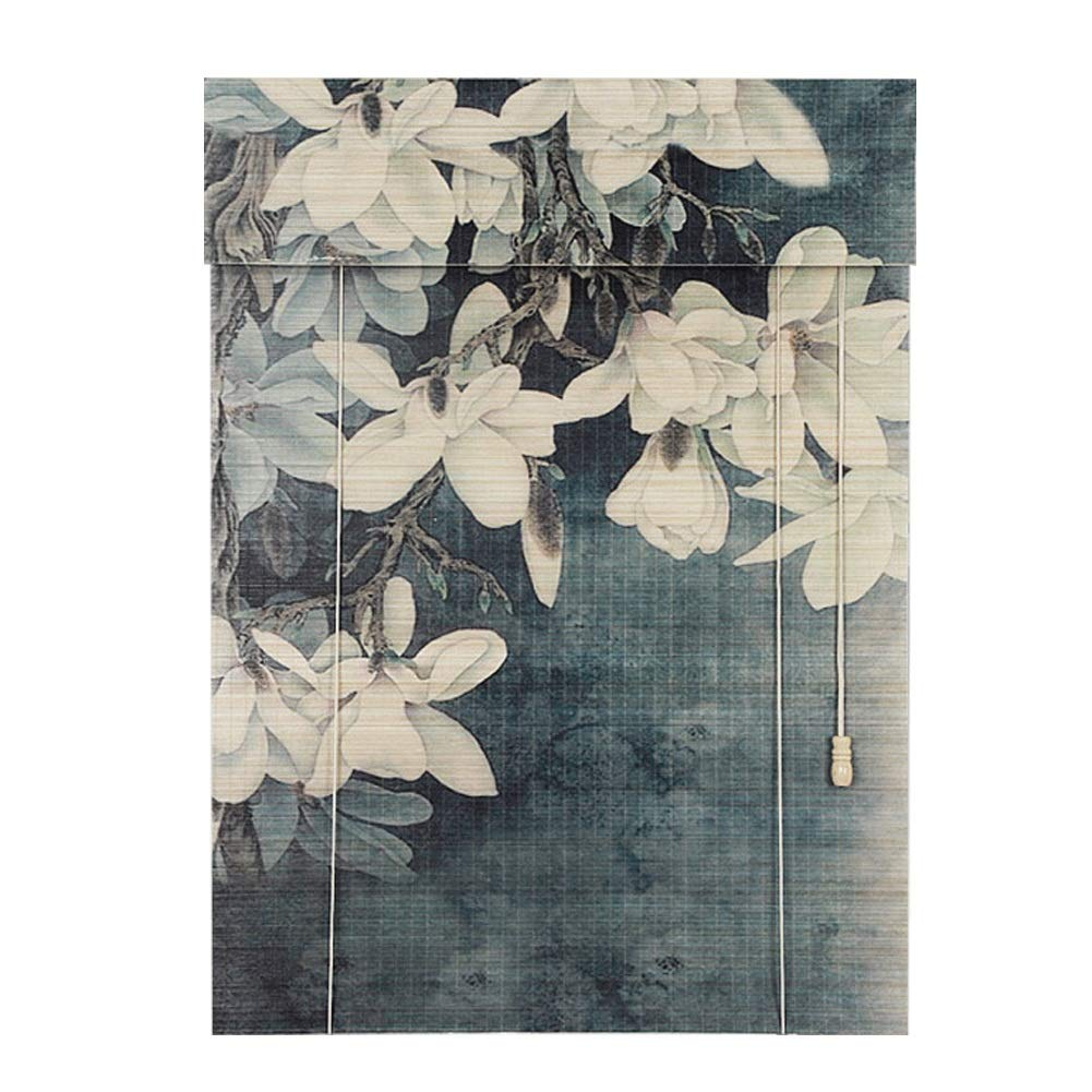 ブラインド 竹のローラーシェード、窓およびドアのための軽量のローラーブラインド、台所/喫茶室のために適した (サイズ さいず : 140×135 cm (55.1