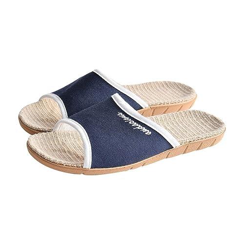 Zapatillas Verano Mujer Hombre Unisex Lino Antideslizante Hogar Interior Verano Pisos Abiertos Mecha Zapatos De Suela De Lino Zapatillas: Amazon.es: Zapatos ...
