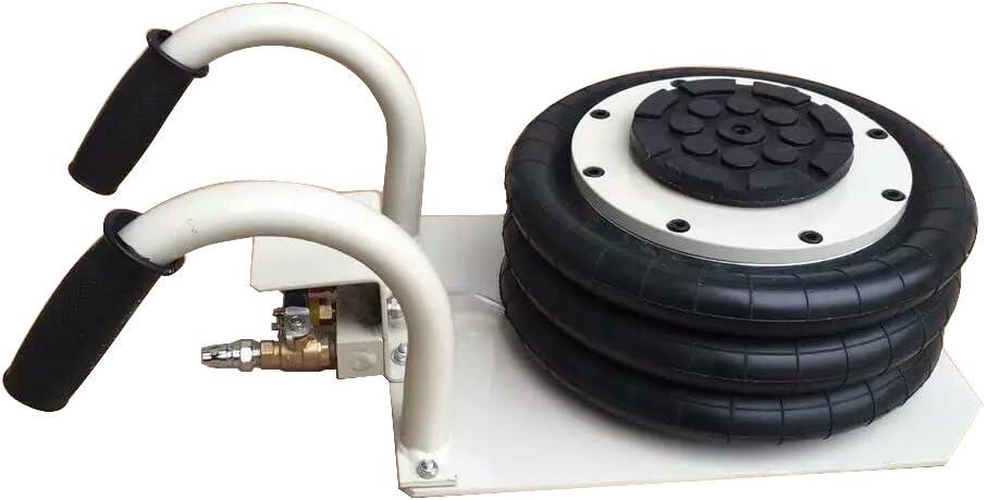 INTBUYING Triple Bag Air Jack 3 Ton(6600lbs) Pneumatic Lift Car Repair Inflatable Bladder Jack-Curved Handle