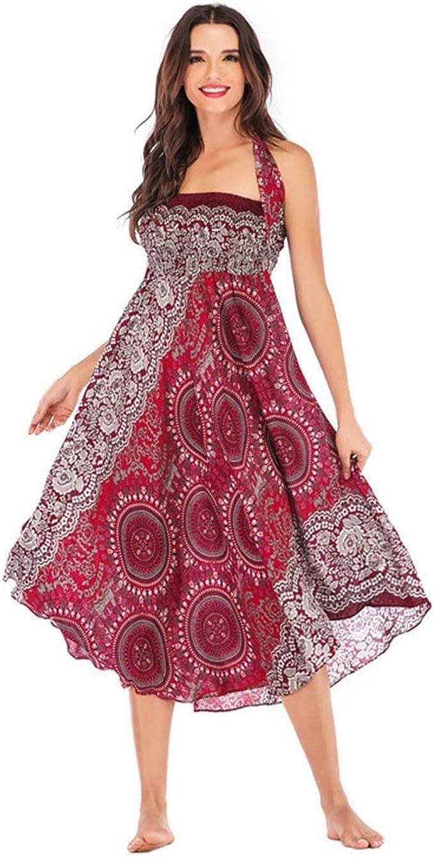 DAY.LIN - Falda Larga para Mujer, Hippie, Bohemia, Gypsy, Flores ...