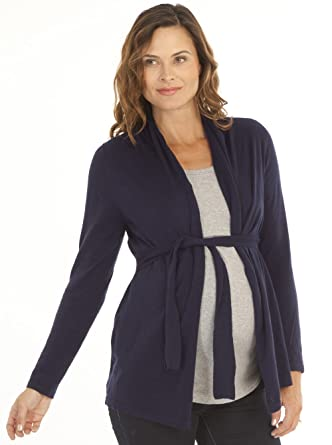 5335d553a4eb3 Angel Maternity - Roll Collar Cardigan with Waist Tie - The Perfect  Breastfeeding Cover - S