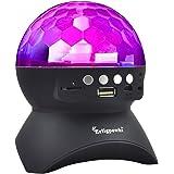 Erligpowht Stage Lights, Rotating Magic Effect Disco Ball Light with Wireless Bluetooth Speaker Mini Card Slot Rotating For KTV Xmas Party Club Pub Disco DJ (No Remote Control)