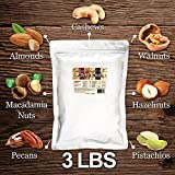 Daily Nuts Original Mixed Nuts, 3 LB (Almonds (Dry-Roasted), Walnuts, Cashews (Dry-Roasted), Macadamias, Pistachios, Pecans, Hazelnuts (Dry- Roasted)
