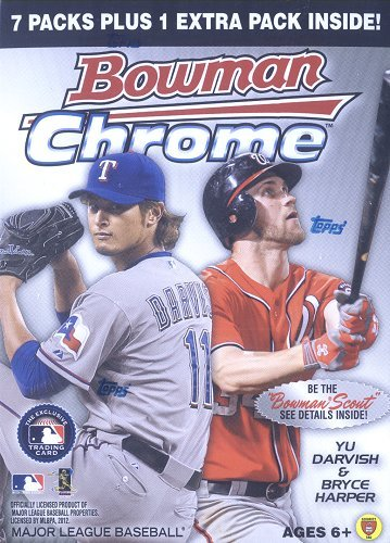 MLB 2012 Bowman Chrome Blasters, Pack of (Bowman Chrome Mlb Rookie Card)