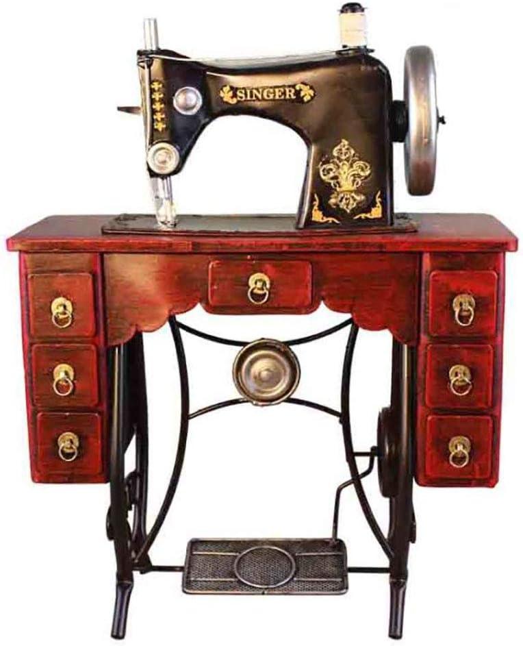 LIJUN Puro Hecho a Mano de Hierro Retro Modelo Antiguo máquina de Coser decoración Ropa Tienda Ventana decoración fotografía apoyos: Amazon.es: Hogar