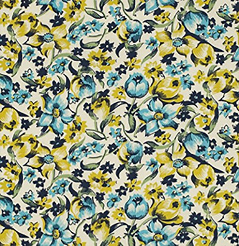 (Dress Flower Willow from the Shelburne Falls collection by Denyse Schmidt for FreeSpirit Fabrics - Green Blue Floral (Yard))