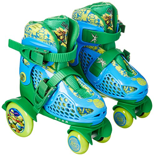 PlayWheels Teenage Mutant Ninja Turtles Kids Big Wheel Quad Roller Skates - Junior Size 6-9 by PlayWheels