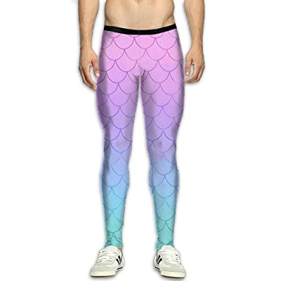 9d02ff8248a GGJHYFDF Men's Compression Pants Purple Fish Scales Dry Sports Tight  Leggings
