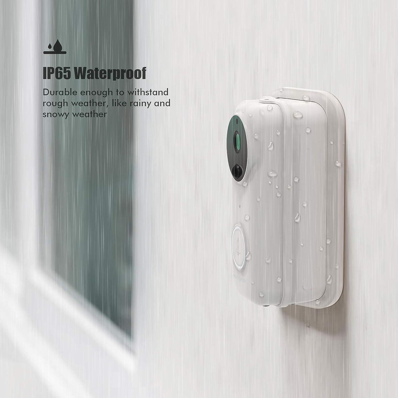 bidirektionaler Kommunikation Weitwinkel HD/1080P Smart Video Kabellose T/ürklingel Wasserdicht Doorbell mit Akku Nachtsicht Koogeek T/ürklingel mit Kamera PIR-Bewegungserkennung f/ür Sicherheit