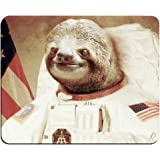 Astronaut Sloth Customized Mouse Pad Rectangle Mouse Pad Gaming Mouse mat