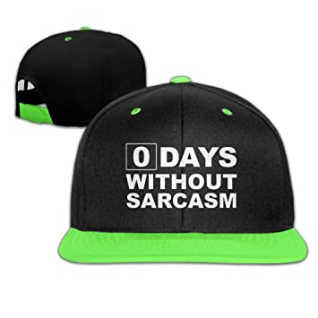 Kids Boys & Girls Zero Days Without Sarcasm Outdoor Hip Hop Sun Cotton Cap Adjustable
