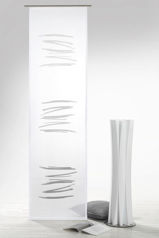 /Corredera Semitransparente Modern Chic Cortina typ415 Fashion and Joy Superficie Degradado con Cortina Abstracto Incluye Accesorios heimtexland 245/x 60/cm/