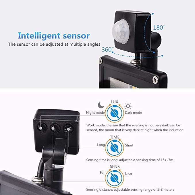 20w Foco led exterior Proyector con sensor de movimiento,Led ...