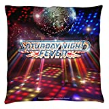 Saturday Night Fever 1977 Musical Drama Movie Dance Floor Throw Pillow