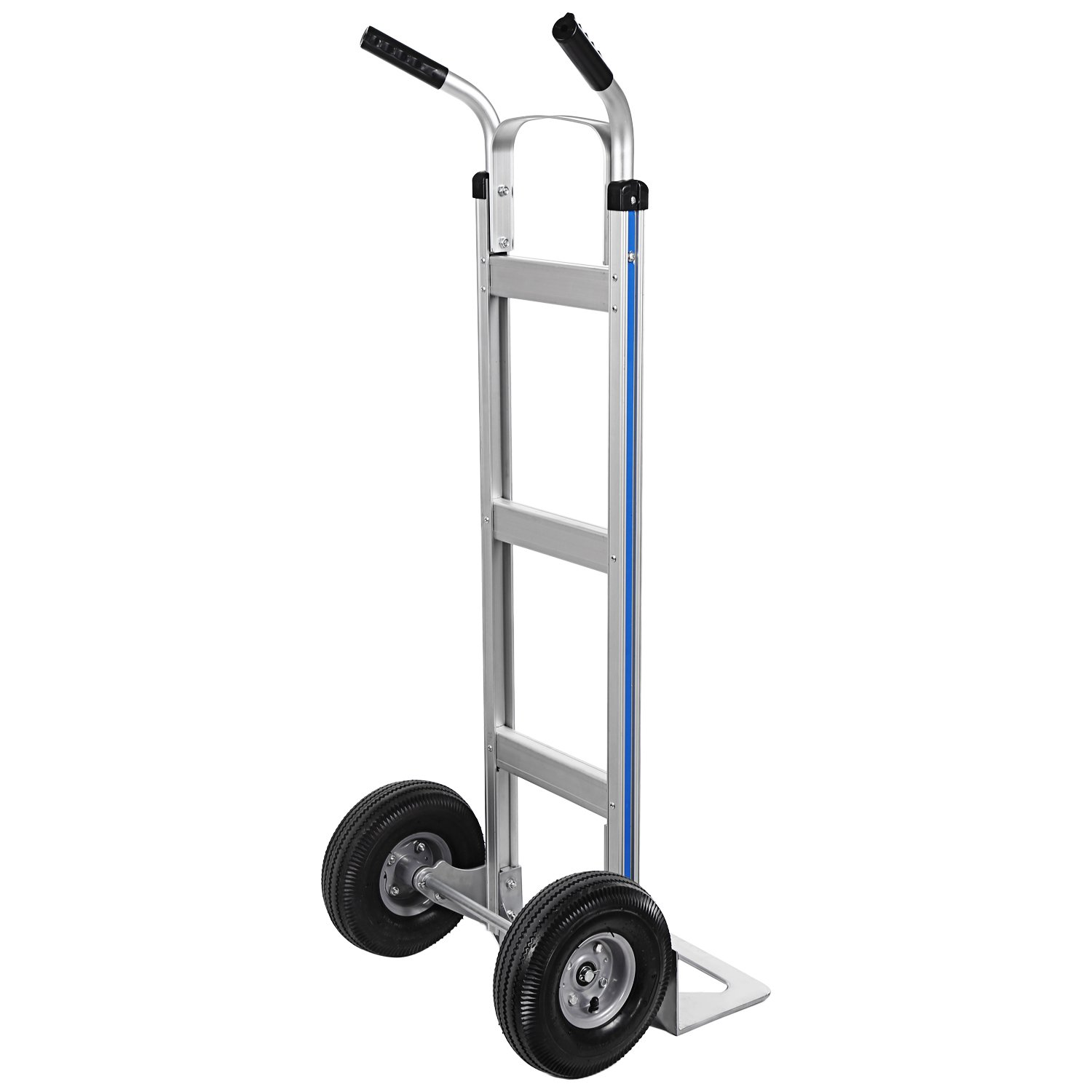 Portable 500 lbs Capacity Heavy Duty Aluminum Trolley Dolly Cart Hand Truck for Indoor Outdoor Travel Shopping Office