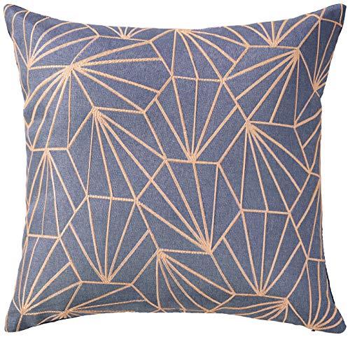 Violet Linen Victoria Chenille Abstract Haxegon Design Decorative Throw Pillows 18