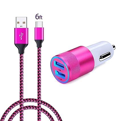 Amazon.com: Ailkin - Cargador de coche USB para Samsung ...
