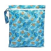 Bumkins Reusable Waterproof Wet Bag with Zipper, Disney, Finding Dory