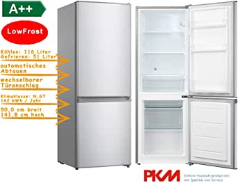 PKM - Refrigerador-congelador Low Frost plata A++ 142 cm 167 ...
