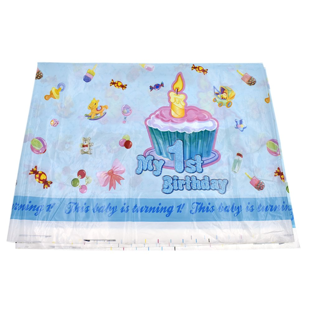 Hongma 1pcs 1st Birthday Party Decorations Tablecloth For Boys Celebration Supplies Amazoncouk Kitchen Home