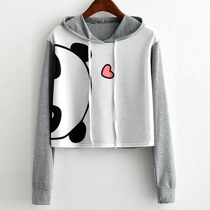 Tinffy Women Casual Print Sweatshirt Long Sleeve Drawstring Hooded Pullover Tops Fashion Hoodies