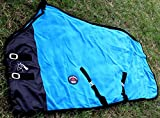 Challenger Horsewear 78'' Horse Sheet Polar Fleece Cooler Exercise Blanket Wick Turquoise 4359