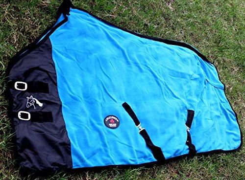 Challenger Horsewear 78'' Horse Sheet Polar Fleece Cooler Exercise Blanket Wick Turquoise 4359 by Challenger Horsewear