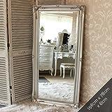 Grand miroir argent mur/sol