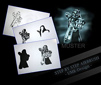 Step by Step Airbrush Schablone AS-080 L ca 23 cm x 16 cm