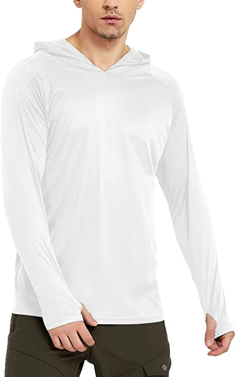 Safort Mens Sun Protection Long Sleeve Hoodie T-Shirt