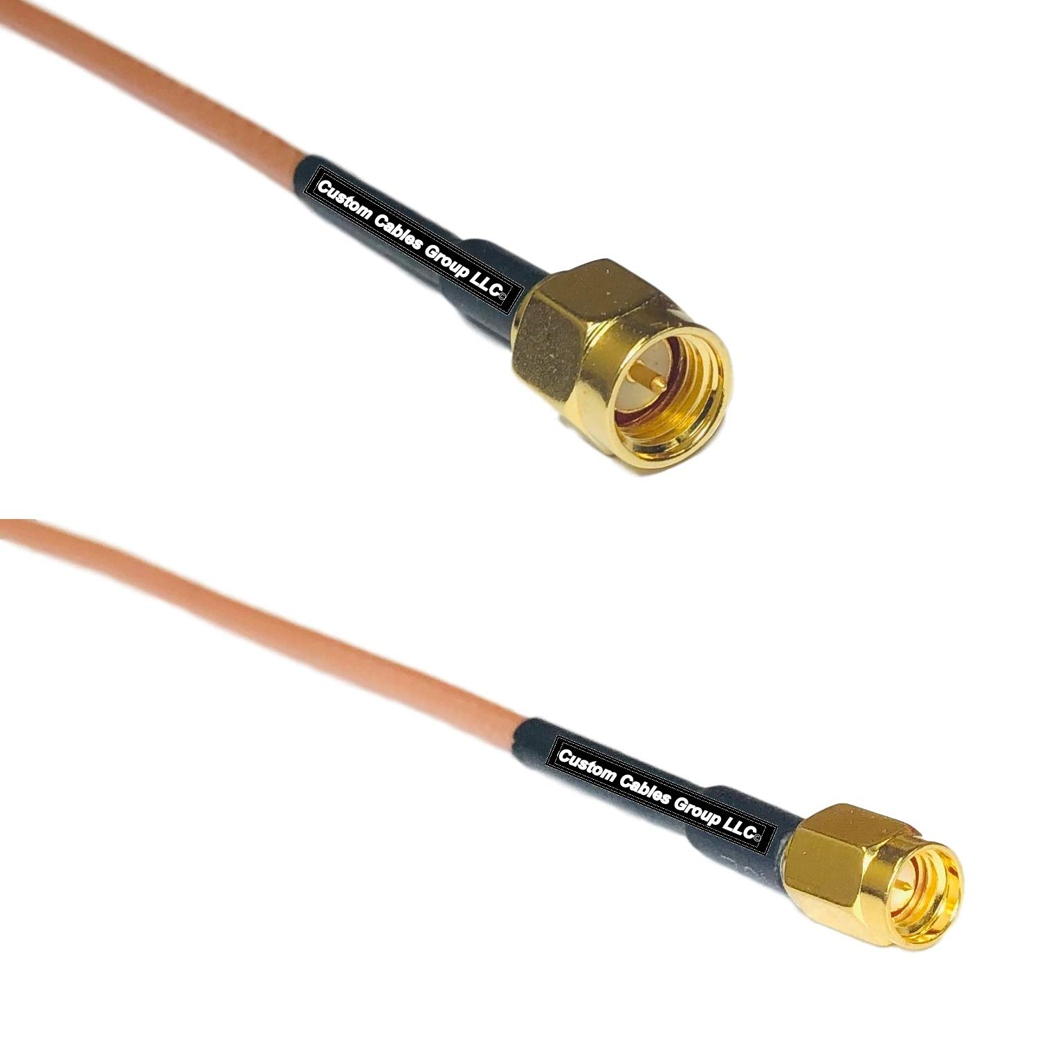 0.5 feet RG316 SMA Male to SSMA Male RF Pigtail Coaxial Cable by Custom Cables Group