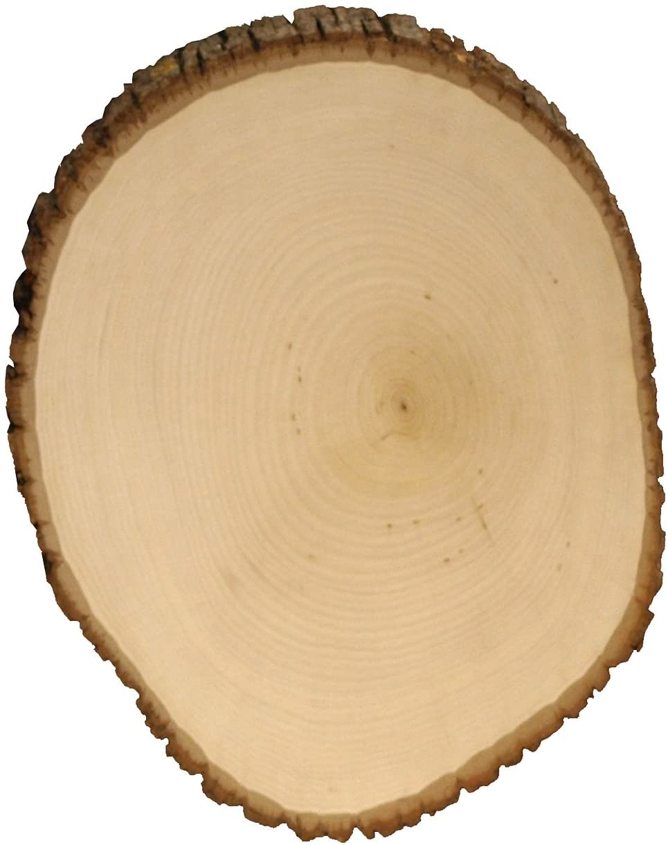 Walnut Hollow Basswood Country Round, Extra Large for Woodburning, Home Décor and Rustic Weddings