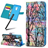 S9 (2018) Case,Samsung Galaxy S9 Wallet Case,Galaxy S9 Kickstand Case,SKYMARS PU Leather Shock Absorbing Bumper 3D Art Painting Kickstand Cards Slot Wallet Magnet Stand Flip Folio Cover Case for Samsung Galaxy S9 (2018) Maple Tree
