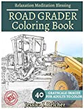 ROAD GRADER Coloring book for Adults Relaxation  Meditation Blessing: Sketches Coloring Book 40 Grayscale Images