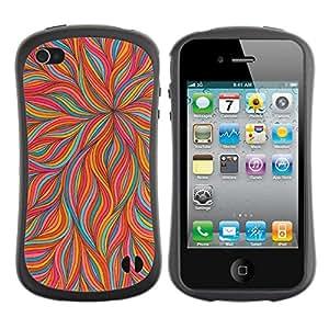 "Pulsar iFace Series Tpu silicona Carcasa Funda Case para Apple iPhone 4 / iPhone 4S , Pétalo rosado floral del trullo colorido"""