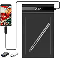 VEIKK S640 V2 Graphic Drawing Tablet 6 x 4 Inch Digital Graphics with 8192 Levels Battery-Free Passive Pen 6x4 Inch