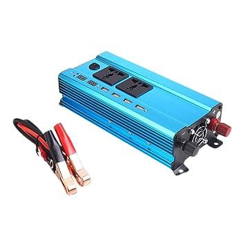 ... automóvil DC 12V a 220V AC Cargador de Coche USB 600W-1200W Banco de Potencia para el teléfono Inteligente del Ordenador portátil en Caso de Emergencia