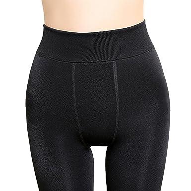 ab5e7ab41fe Dehutin Women  High Waist Winter Warm Leggings Stretchable Fleece Lined  Tights