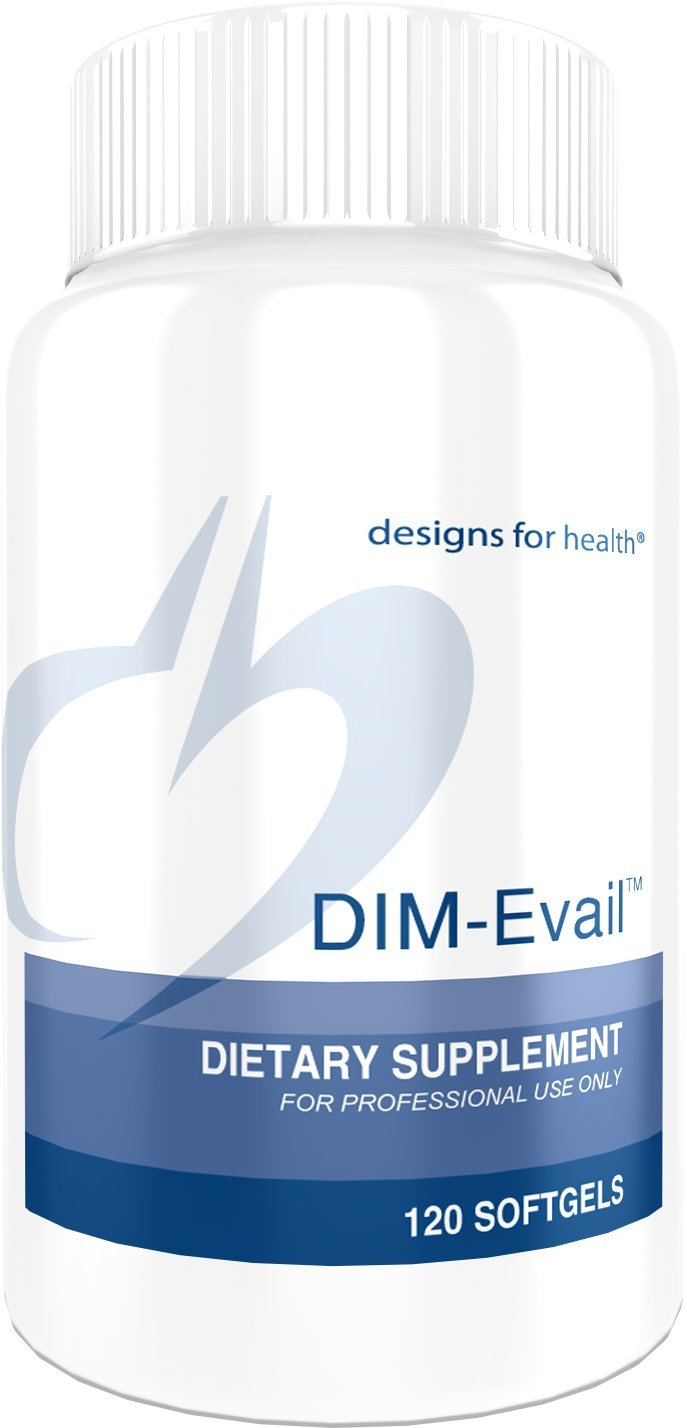 Designs for Health DIM-Evail – 100mg Diindolylmethane Without Soy 120 Softgels