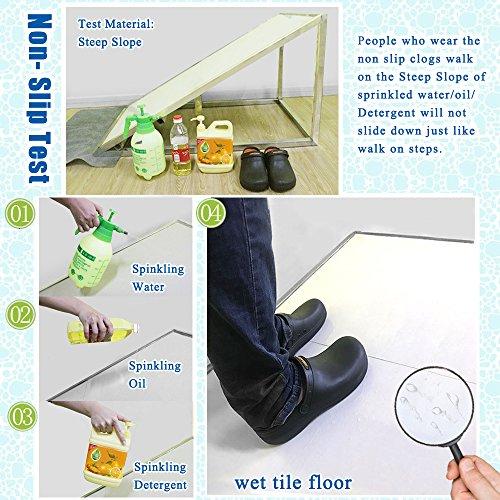 Non Women Slip Black Chef Slip Kitchen Black Men for Work Resistant Shoes Clog wXIw17qZxP