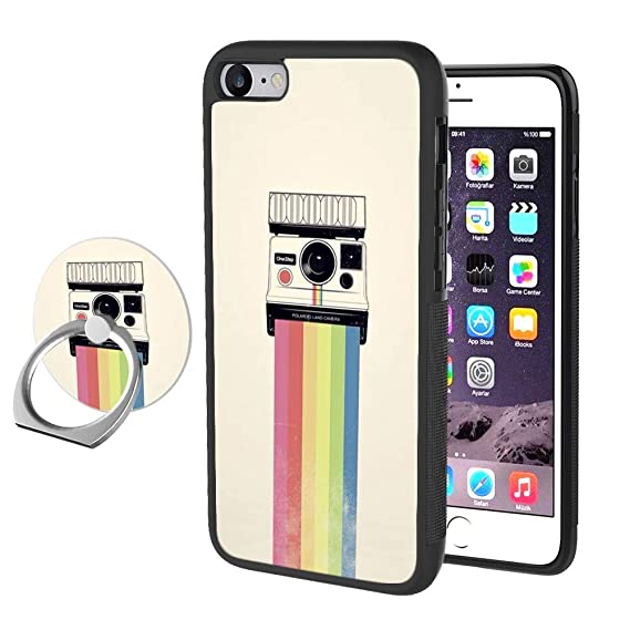 best service 92cb7 ed155 Amazon.com: Odiasnquq Designed Rainbow Polaroid iPhone 7 Plus 8 Plus ...