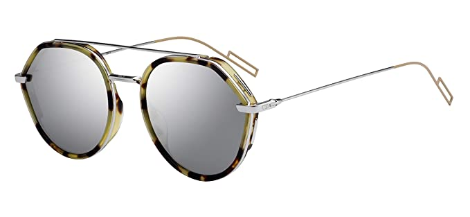 18fb1a8ccf Lunettes de Soleil Dior DIOR 0219S YELLOW HAVANA/GREY homme: Amazon ...