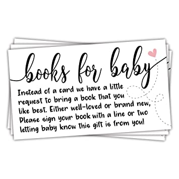 Amazoncom 50 Sweet Heart Books For Baby Shower Request Cards