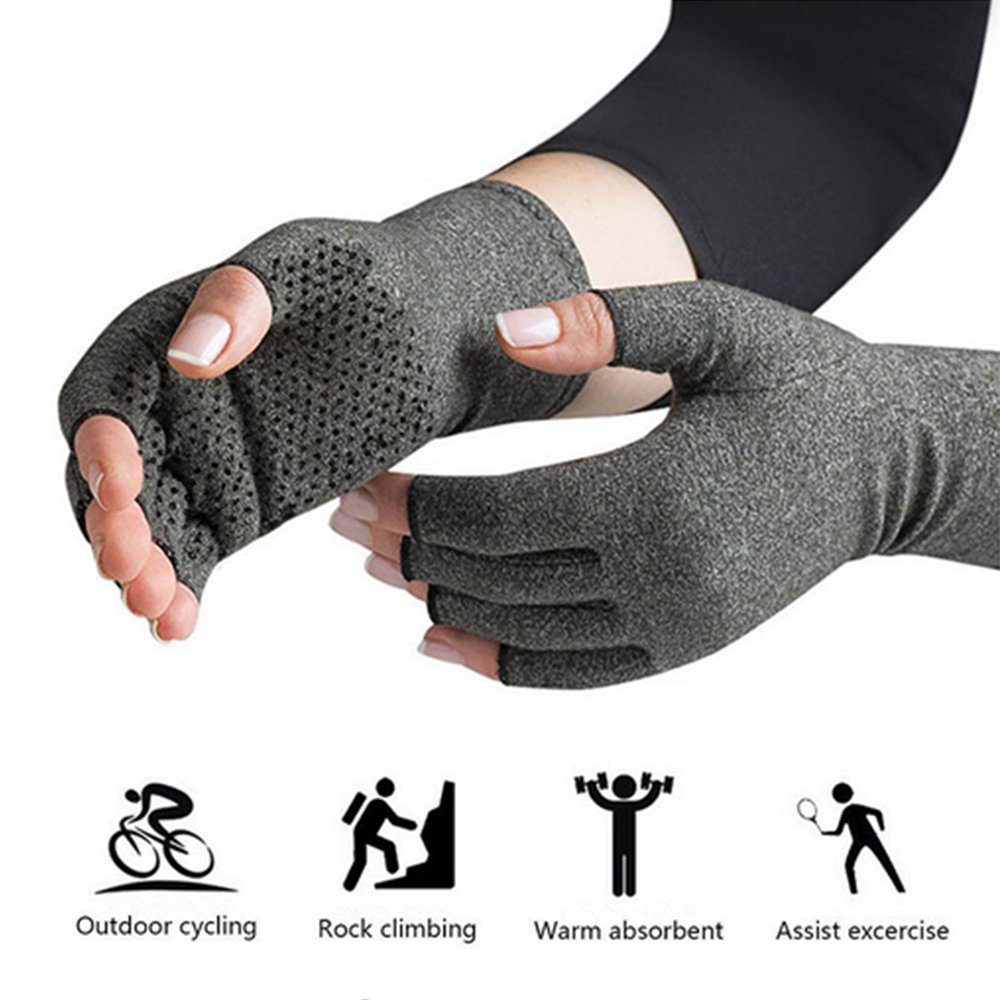 Arthritis Gloves - Warmth and Compression for relief of Rheumatoid and Osteoarthritis Joint Pain (Small)