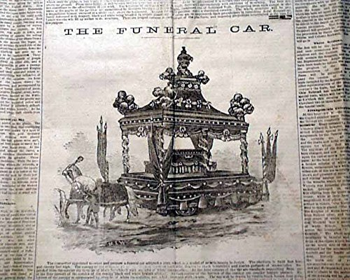 (Best JAMES A. GARFIELD Death Funeral Car Prints 1881 Cleveland Ohio Newspaper THE CLEVELAND LEADER, Ohio, Sept. 24, 1881)