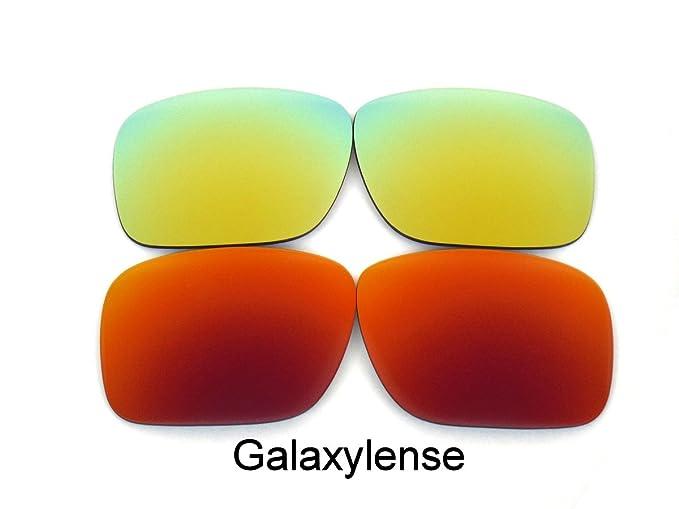 Galaxy Lentes De Repuesto Para Oakley Holbrook Polarizados rojo y oro 2 pares - Transparente,