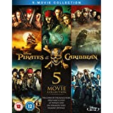 Pirates of the Caribbean: Complete Movie Collection 1-5 [Blu-ray Region Free] [2017]