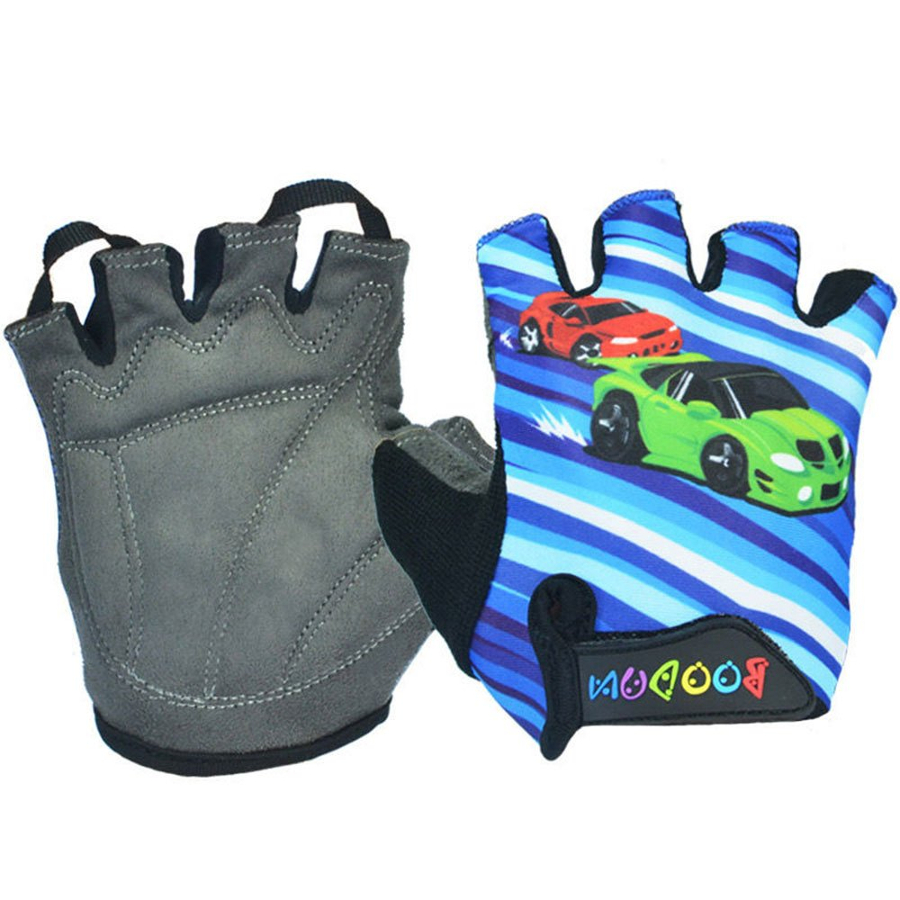 iwish Kid's Sports outdoor Glove Bike bicycle half-finger gloves Blue-Medium